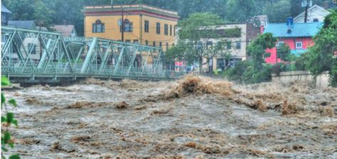 In August, 2011 Tropical Storm Irene caused severe flood damages to Shelburne Falls and other areas in the region